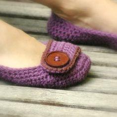 Crochet Pattern for Violet Womens House Slipper