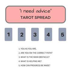 """Advice Tarot Spread: """"I Need Advice!""""   My Wandering Fool #tarot"""