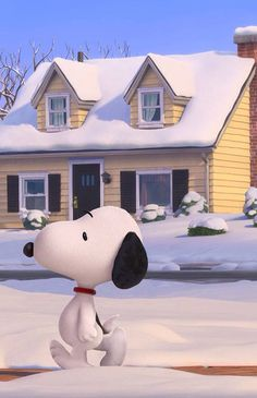 Peanuts movie - this picture makes me want to find some Snoopy figurines to put in the garden for Miss
