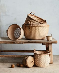 Our Favorite American-Made Companies | Sourcing all the materials for her work locally and sustainably, New Hampshire-based basket maker Alice Ogden weaves every creation with the utmost care. Embracing form and function in every piece, the self-taught artisan also tops off every basket with her signature hand-carved handles.  #americanmade #marthastewart