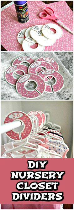 DIY Nursery Closet Dividers - 20 Easy DIY Baby Closet Dividers To Organize Baby Clothes