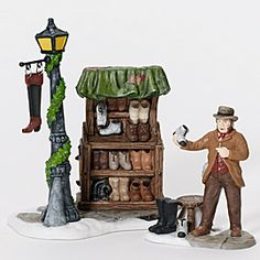 "Department 56: Products - ""Cobbler's Corner Stand"" - View Accessories"