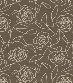 Home Decor Upholstery Fabric-Crypton Bed Of Roses-GrayHome Decor Upholstery Fabric-Crypton Bed Of Roses-Gray,