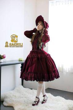 ☮JAPANESE STREET FASHiON☮••• classic lolita ~ dress ~ one piece ~ bonnet ~ ruffles ~ knee socks ~ outfit ~ coordinate ~ elegant ~ cute ~ kawaii