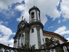 Old church at São João Del Rei, Minas Gerais, Brazil.