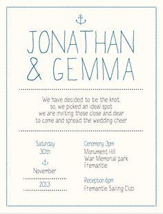 Wedding Invitations by Holly Stead, via Behance