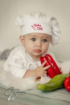 a chef`s daughter :-) baby #photo, baby chef, photo ideas, gift, portrait Baby photo sessions start at $75 #Jacksonville #Photography @Gabriela Bauerova
