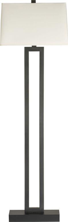 Duncan Antiqued Bronze Floor Lamp in Floor Lamps, Torchieres | Crate and Barrel
