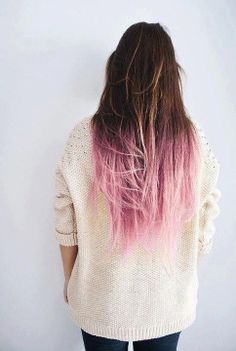 pastel pink ombre <3 If I only had naturally brunet hair....