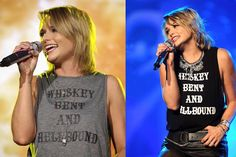 As Seen On – License to Boot Miranda Lambert Whiskey Bent and Hellbound Tank in Gray and Black&White www.licensetoboot.com Country music concert country music festival outfit