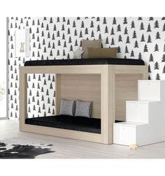 Compra tu Dormitorio juvenil o infantil de calidad con Muebles JJP. Litera con opciones de barandilla y laterales cerrados consultar las diferentes opciones.