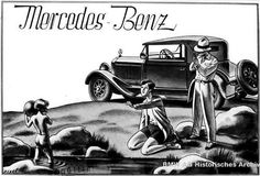 Mercedes Benz ad from the 30s