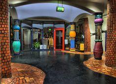 Hundertwasser Bahnhof in Uelzen - Innenansicht 1 (HDR) von Michael Stöhr  _____________________________ Bildgestalter http://www.bildgestalter.net