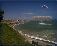 Pacific Ocean Coastline of Lima, Peru