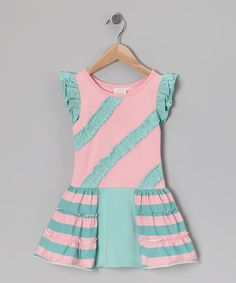 Swanky Baby Vintage - Blue Cotton Candy Brittany's Dress
