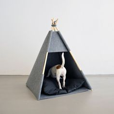 Have a cozy-nook-loving dog? Create a special space all their own with one of HELLO PETS' modern felt teepees.