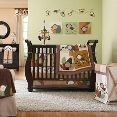 Charming Baby Boy Monkey Crib Bedding Sets Picture Inspirations
