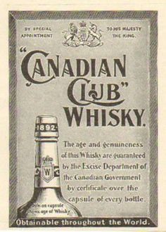 1901 Canadian Club whisky ad