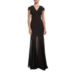 BO.BÔ - Vestido longo Bo.Bô recortes - preto