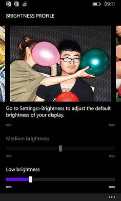 Nokia Cyan update brightness slider setting   The new software update for Nokia Lumia Cyan Lumia WP8 will be available for all smartphones using the Windows Phone 1.8 update this summer. Along with other new features and enhancements in this update will be available OTA cyanide to obtain a new setting and set your screen brightness to a smooth slider mechanism.