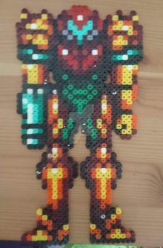 Samus pixel art by SewManyTeddies