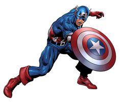Captain America. Colors by Rain.