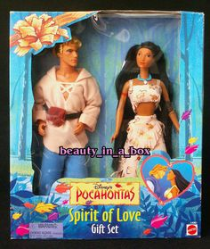 Pocahontas and John Smith Doll Disney Spirit of Love Gift Set Very Rare