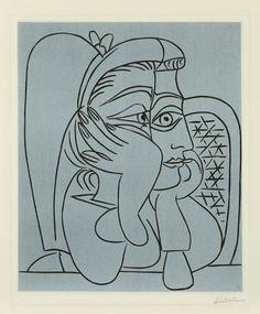 Pablo Picasso - Portrait de Jacqueline accoudée (1959)
