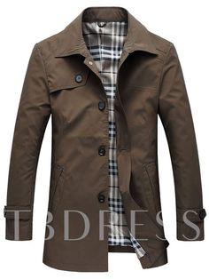 00cc89881a1 Lapel Solid Color Thin Men s Trench Coat