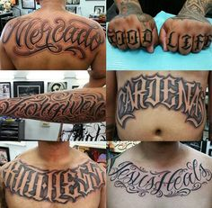 Chicano Letters Evil Tattoos, Skull Tattoos, Leg Tattoos, Body Art Tattoos, Sleeve Tattoos, Tatoos, Tattoo Lettering Styles, Tattoo Script, Cool Lettering