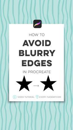 Quick Tip: How to Avoid Blurry Edges in Procreate – Every-Tuesday – Digital Art Tips. Affinity Designer, Digital Art Tutorial, Ipad Art, Lettering Tutorial, Illustrator Tutorials, Photoshop Illustrator, Photoshop Tutorial, Photoshop Actions, Graphic Design Tutorials