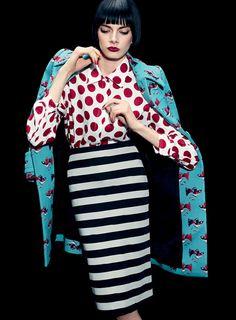 """Arty Style"" Aleksandra Borowska for Les Echos Magazine April 2014 mm/burberry"