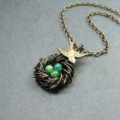 Bird nest necklace!