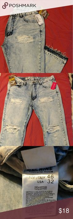 NWT Love Culture Acid Wash Boyfriend Ripped Jeans This brand new with tags trendy jean is a size 13/32. This gem has rips on the front with a acid wash background. This deal is a steal and offers are always welcome. Love Culture Jeans Boyfriend