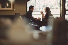 a couple shoot in a coffee shop! Pre Wedding Poses, Pre Wedding Photoshoot, Wedding Shoot, Wedding Couples, Coffee Shop Photography, Couple Photography, Engagement Photography, Wedding Photography, Couple Posing