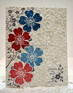 Stampin' Up! Wildflower Morning handmade embossed card