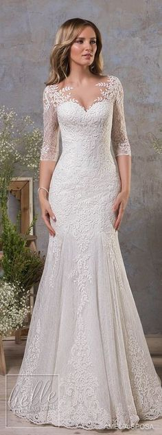 amelia sposa fall 2018 bridal half sleeves sweetheart neckline heavily embellished bodice elegant drop waist a line wedding dress covered lace back medium train mv -- Amelia Sposa Fall 2018 Wedding Dresses - September 21 2019 at Amelia Sposa Wedding Dress, Sweetheart Wedding Dress, White Wedding Dresses, Bridal Dresses, Wedding Gowns, Lace Wedding, Bridesmaid Dresses, Trendy Wedding, Wedding Ideas