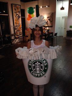 Vanilla bean Starbucks halloween costume