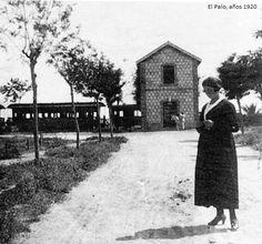 Ferrocarriles Suburbanos de Málaga, estación de El Palo, años 1920.