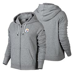 Get this Pittsburgh Steelers Ladies Stadium Rally Full-Zip Hooded Sweatshirt  at ThePittsburghFan.com 31e2a4d12