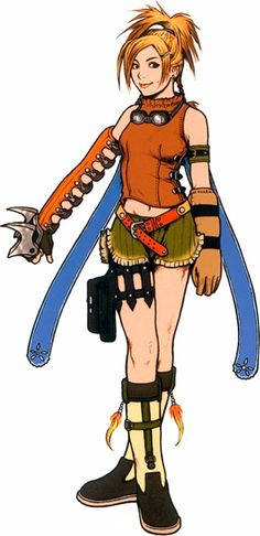 Rikku - Final Fantasy X - COSPLAY IS BAEEE! Tap the pin now to grab yourself some BAE Cosplay leggings and shirts! From super hero fitness leggings, super hero fitness shirts, and so much more that wil make you say YASSS! Final Fantasy X, Artwork Final Fantasy, Final Fantasy Characters, Fantasy Series, Female Characters, Manga Anime, Comic Manga, Anime Art, Tetsuya Nomura