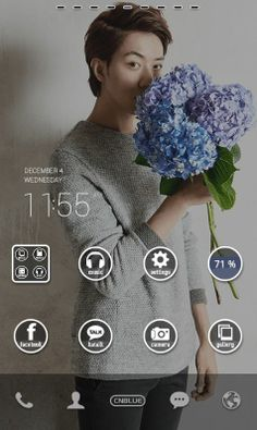 CNBLUE phone theme by dodol launcher.