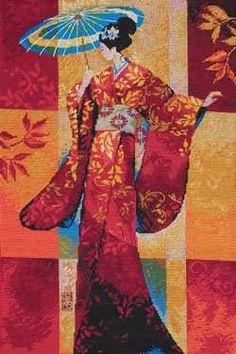 Preciosos gráficos de dos geishas...