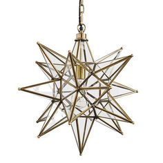 Brass Moravian Star Pendant - this is the fixture I (think) I want to put in the entry way
