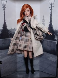 Burberry Barbie, my first collectible barbie