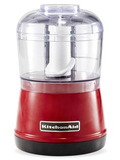 KitchenAid Food Mini Chopper #KFC3511ER can chop and puree, and it's easy to use and dishwasher safe.