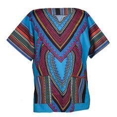 Heart Shape Dashiki Shirt - Red