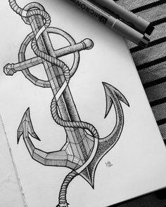 03 • Anchor & rope #tattoo #tattoodesign #tatouage #ink #inkdesign #artist…