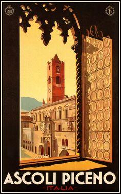 TV74 Vintage 1932 Ascoli Piceno Italian Italy Travel Poster A2 A3 Reprint
