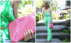 Lou Harvey bag & Lilly Pulitzer for Target jumpsuit Event Styling, Lilly Pulitzer, Style Me, Pastel, Spring Summer, Street Style, Lifestyle, Pretty, Pink